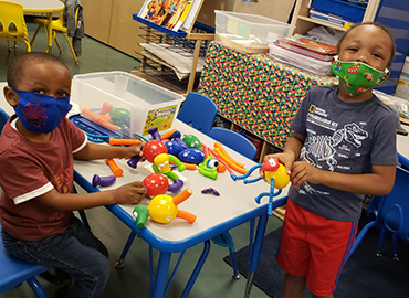 Pre-K students in class