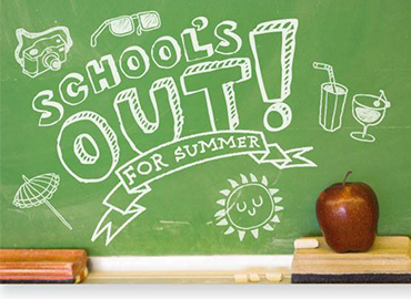 Schools out for summer chalkboard