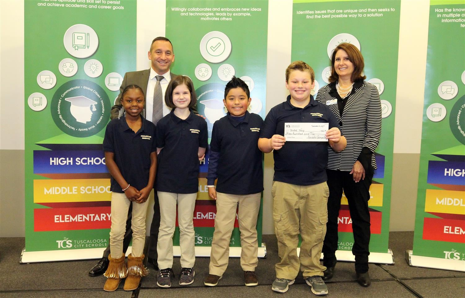 Arcadia Students contributed to a record-breaking year of giving for United Way among TCS students!