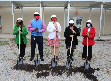 Groundbreaking Ceremony for an Outdoor Classroom