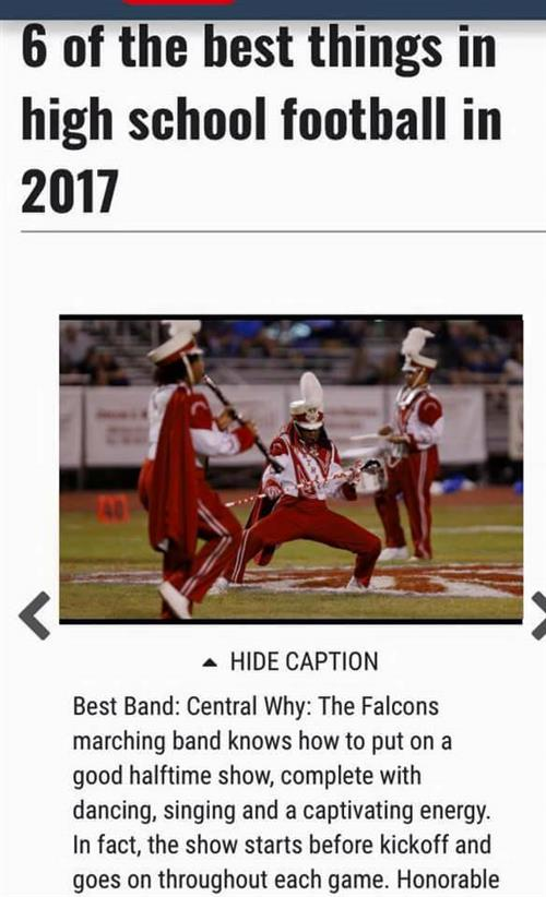 "CHS Band named ""Best Band"" for 2017"
