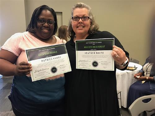 Ms. Patricia Hardy and Ms. Heather White Receive Mentor / Mentee Award