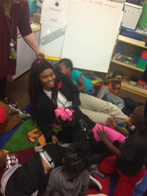 Success prep students reading at MLK Elementary