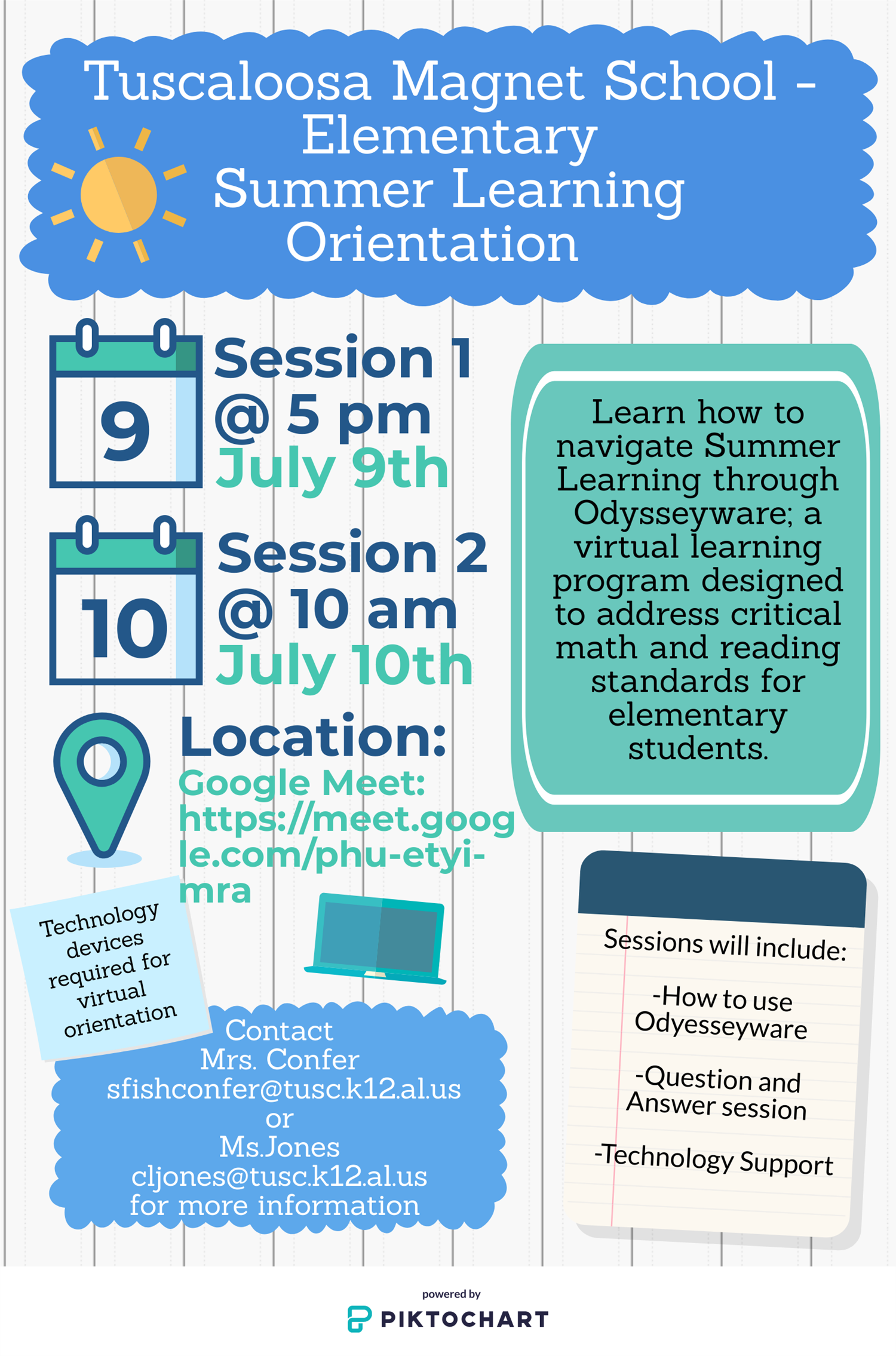 Summer Learning Flyer