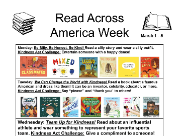 Read Across America Week to be celebrated March 1-5!