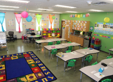 Picture of an elementary classroom.
