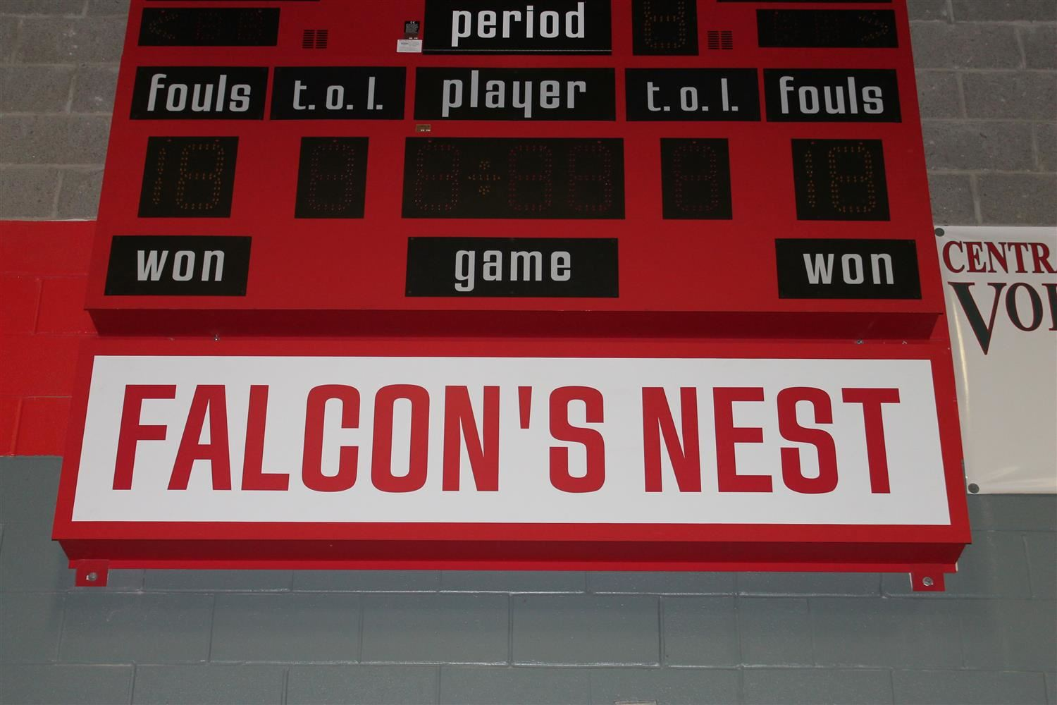 The Falcon's Nest Scoreboard