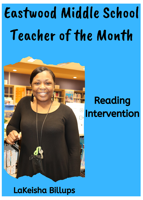 EMS Teacher of the Month-Billups
