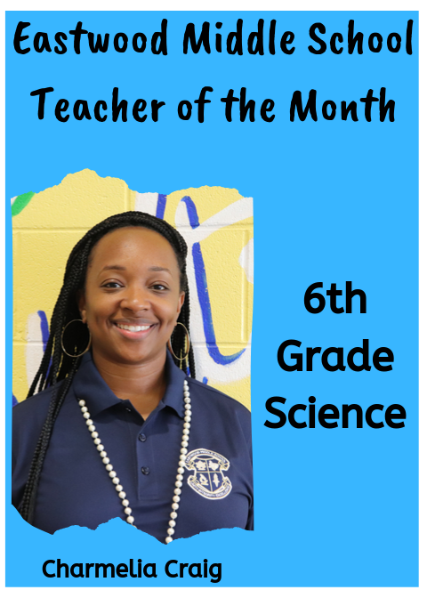 Ms. Craig, September Teacher of the Month