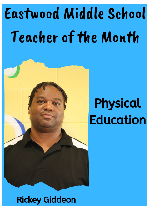 Coach Giddeon, September Teacher of the Month