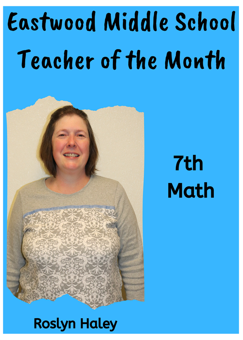 EMS Teacher of the Month-Haley
