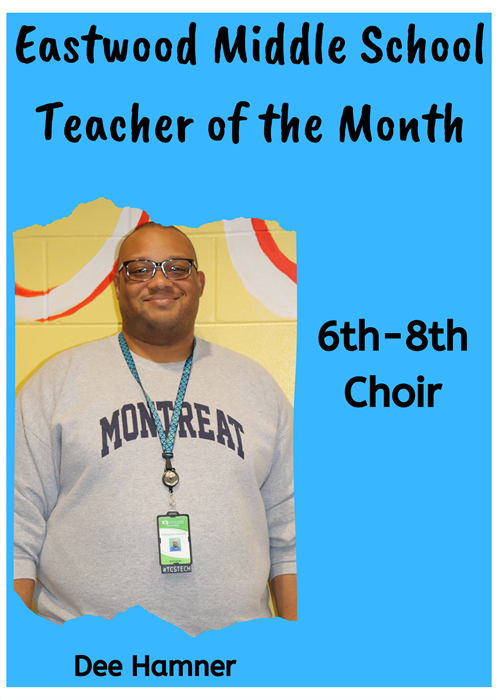 EMS Teacher of the Month-Hamner