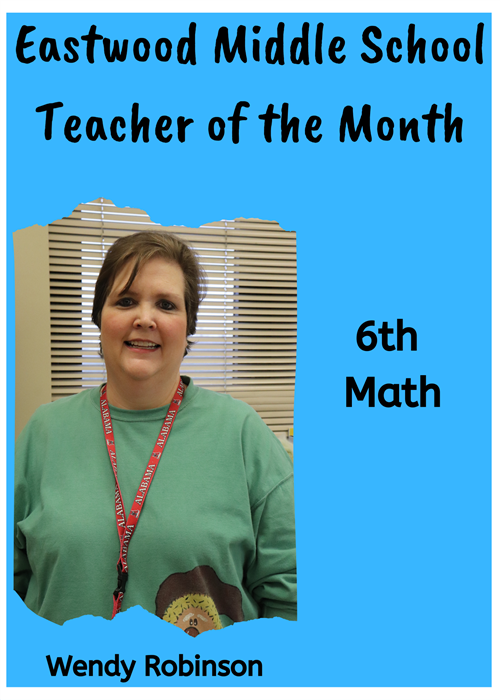EMS Teacher of the Month-Robinson