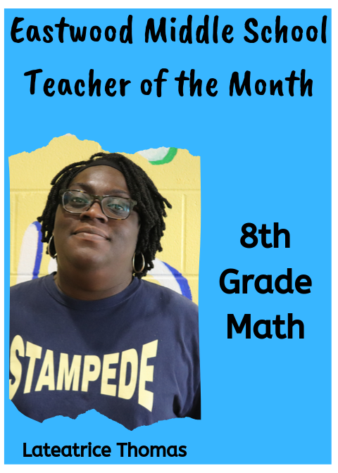 Ms. Thomas, September Teacher of the Month